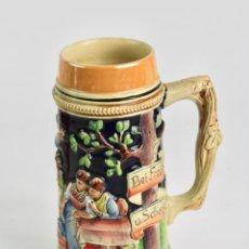 Coleccionismo de cervezas: JARRA DE CERVEZA DE PORCELANA ALEMANA.. Lote 194392405