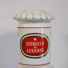 Coleccionismo de cervezas: PORCELANA GRIFO ANTIGUO DE CERVEZA ESTRELLA DE LEVANTE. Lote 194548541