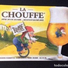 Coleccionismo de cervezas: POSAVASOS CERVEZA BELGA LA CHOUFFE. Lote 194548605