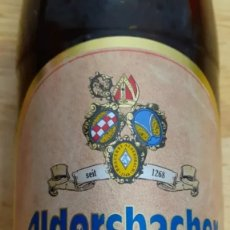 Coleccionismo de cervezas: ALDERSBACHER KLOSTER WEISSE- BOTELLA LLENA - CERVEZA ALEMANA. Lote 194645232