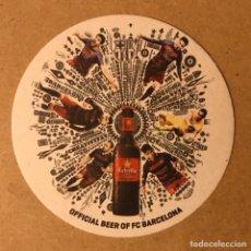 Coleccionismo de cervezas: POSAVASOS CERVEZA ESTRELLA DAMM BARCELONA JUGADORES BARÇA - BARCELONA PARA EXPORTACIÓN. Lote 194784205