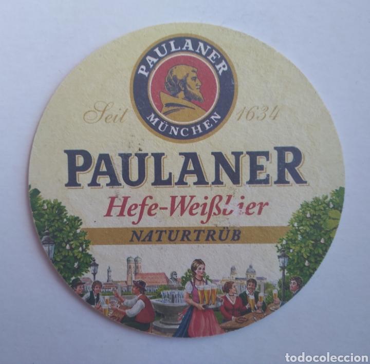 Coleccionismo de cervezas: Posavasos cerveza Paulaner - Foto 2 - 195385482