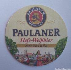 Coleccionismo de cervezas: POSAVASOS CERVEZA PAULANER. Lote 195385482