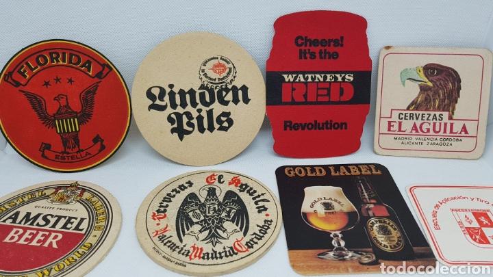 Coleccionismo de cervezas: LOTE POSAVASOS AÑOS 80 CERVEZAS EL AGUILA AMSTEL SKOL FLORIDA ESTRELLA DORADA Y MAS - Foto 2 - 195385578