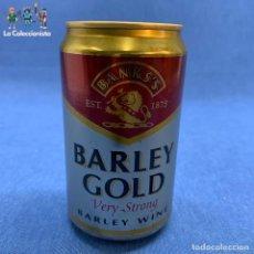 Coleccionismo de cervezas: LATA DE CERVEZA BARLEY GOLD - VERY STRONG - BEER - 330 ML - INGLATERRA - VACÍA -1998. Lote 195408753