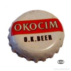 Colecionismo de cervejas: TAPÓN CORONA POLONIA (PL)--CHAPA CERVEZA OKOCIM. Lote 194945003