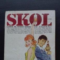 Coleccionismo de cervezas: ANUNCIO CERVEZA SKOL. Lote 195745395