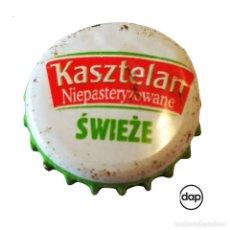 Colecionismo de cervejas: TAPÓN CORONA POLONIA (PL)--CHAPA CERVEZA KASZTELAN. Lote 196449131