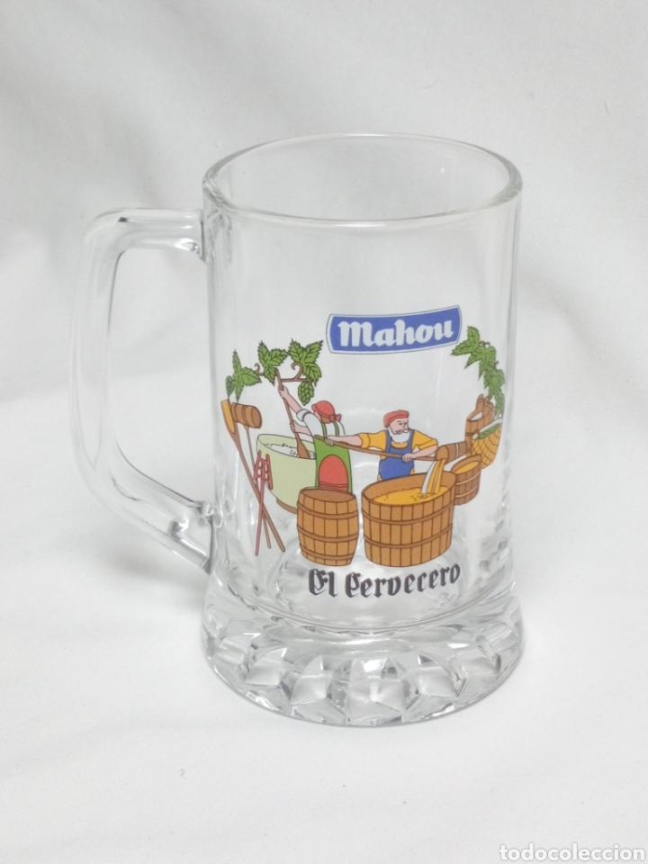 JARRA CERVEZA MAHOU EL CERVECERO (Coleccionismo - Botellas y Bebidas - Cerveza )