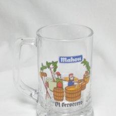 Coleccionismo de cervezas: JARRA CERVEZA MAHOU EL CERVECERO. Lote 198468161
