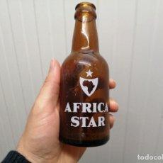 Coleccionismo de cervezas: ANTIGUA BOTELLA LA ESTRELLA AFRICA CEUTA STAR SERIGRAFIADA DE 20 CL CERVEZA. Lote 198490510