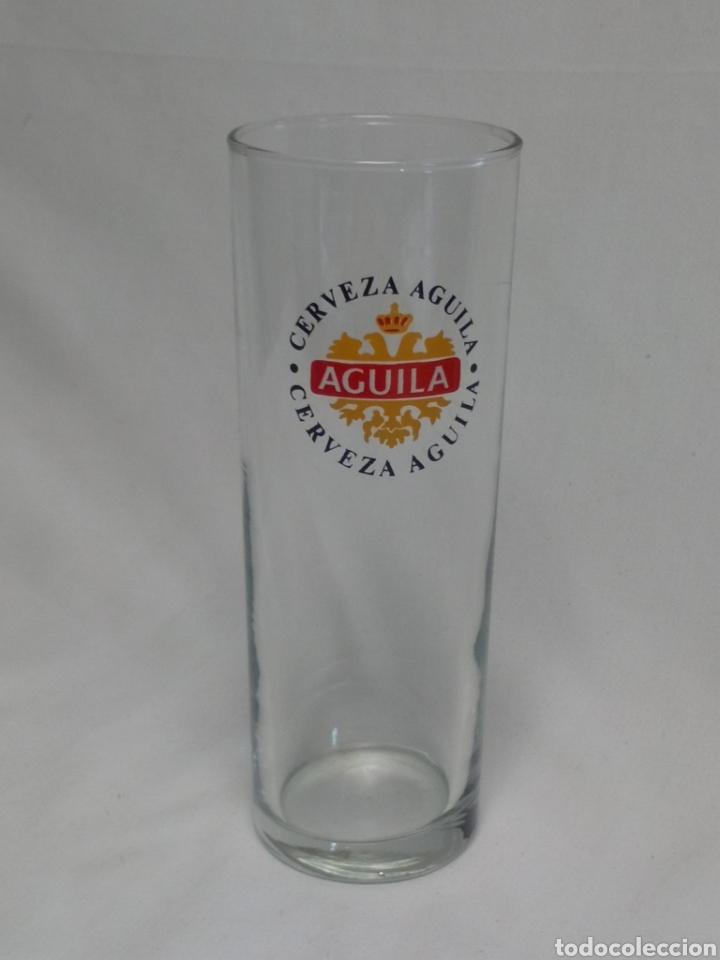 CERVEZA ÁGUILA VASO DE TUBO (Coleccionismo - Botellas y Bebidas - Cerveza )