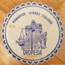 Coleccionismo de cervezas: POSAVASOS PARADOR VIRREY TOLEDO - OROPESA. Lote 199080447