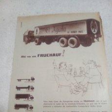 Collezionismo di birre: RECORTE PERIÓDICO PUBLICIDAD ÁGUILA AÑOS 60. Lote 199171366