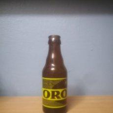 Coleccionismo de cervezas: BOTELLA DE CERVEZA SERIGRAFIADA ORO, CERVECERA DEL NORTE BILBAO-VALENCIA. Lote 219449620