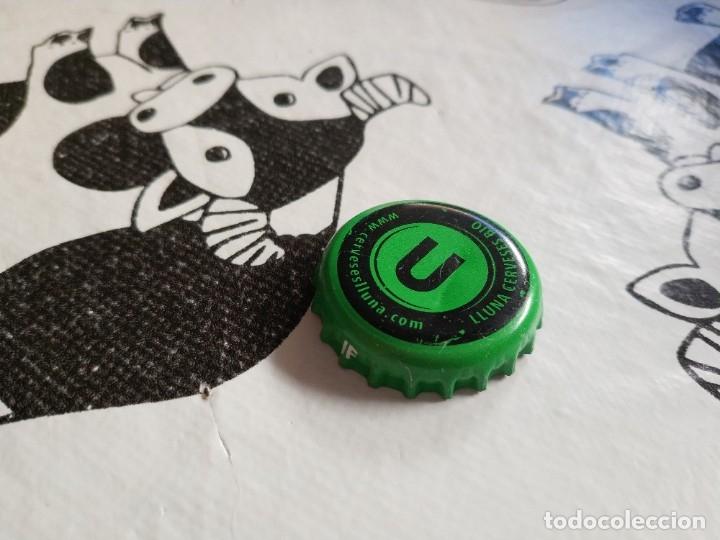 CHAPA CERVEZA LLUNA BLOND 1 (JF) (Coleccionismo - Botellas y Bebidas - Cerveza )