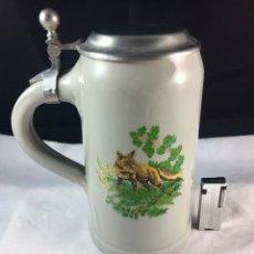 Coleccionismo de cervezas: JARRA DE PORCELANA ALEMANA -1 LITRO !!!!!. Lote 86309139