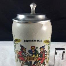 Coleccionismo de cervezas: JARRA DE CERVEZA DE PORCELANA ALEMANA. Lote 86420668