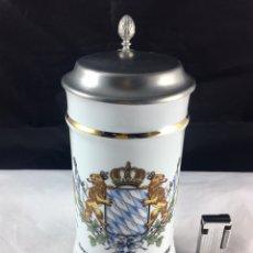 Coleccionismo de cervezas: JARRA DE CERVEZA EN PORCELANA ALEMANA -PUBLICIDAD VOLKSWAGEN Y AUDI. Lote 86422471