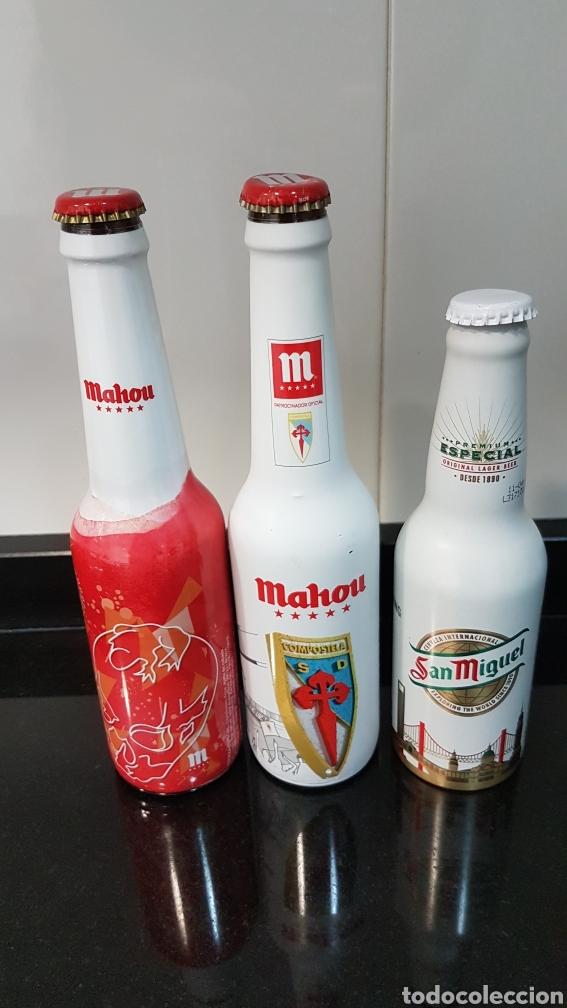 LOTE CERVEZAS ESMALTADAS VACÍAS (Coleccionismo - Botellas y Bebidas - Cerveza )