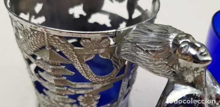 Coleccionismo de cervezas: VASO O JARRA DE CERVEZA EN CRISTAL EN SOPORTE DE METAL Y MÚSICA - Foto 15 - 202399591
