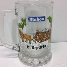 Coleccionismo de cervezas: JARRA DE CERVEZA MAHOU 12X11CM. Lote 203007917