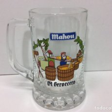 Coleccionismo de cervezas: JARRA DE CERVEZA MAHOU 12X11CM. Lote 203007990
