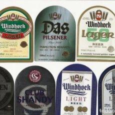 Coleccionismo de cervezas: LOTE DE 7 ETIQUETAS NAMIBIA. Lote 203364300