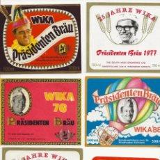 Coleccionismo de cervezas: LOTE 5 ANTIGUAS ETIQUETAS DE NAMIBIA. Lote 203366497
