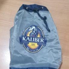 Coleccionismo de cervezas: MACUTO MOCHILA BOLSA CERVEZA KALIBER SIN. NUEVA. AÑOS 90.. Lote 203399656