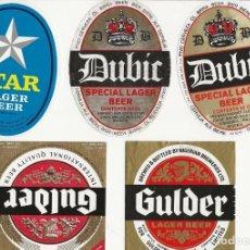 Coleccionismo de cervezas: LOTE 9 ETIQUETAS DE NIGERIA. Lote 203562477