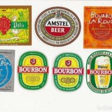 Coleccionismo de cervezas: LOTE DE 7 ETIQUETAS ISLA REUNIÓN. Lote 203563142