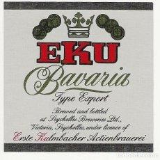 Coleccionismo de cervezas: ETIQUETA DE ISLAS SEYCHELLES. Lote 203564150