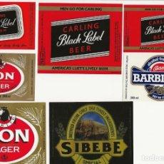 Coleccionismo de cervezas: LOTE DE 7 ETIQUETAS SWAZILANDIA, AFRICA. Lote 203566596
