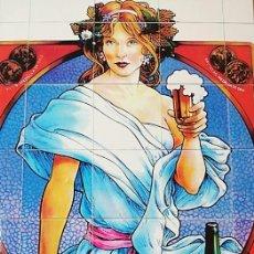 Coleccionismo de cervezas: CARTEL PUBLICITARIO RETRO CERVEZAS MAHOU. Lote 203726801