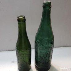 Coleccionismo de cervezas: BOTELLAS ANTIGUAS CERVEZA AGUILA LOGO EN RELIEVE ESCASA. Lote 204434642