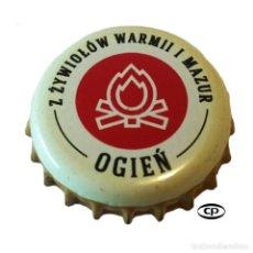 Colecionismo de cervejas: TAPÓN CORONA POLONIA (PL)--CHAPA CERVEZA BROWAR BRANIEWO S.P. Lote 204684717