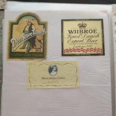 Coleccionismo de cervezas: LOTE COLECCION DE ETIQUETAS DE CERVEZA EXTRANJERAS POCO VISTAS Y EN PERFECTO ESTADO. Lote 204992410