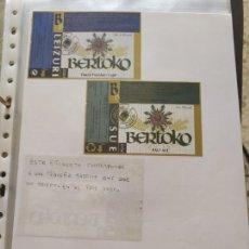 Coleccionismo de cervezas: LOTE COLECCION DE ETIQUETAS DE CERVEZA POCO VISTAS Y EN PERFECTO ESTADO BERTOKO. Lote 204995571