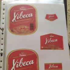 Coleccionismo de cervezas: LOTE COLECCION DE ETIQUETAS DE CERVEZA POCO VISTAS Y EN PERFECTO ESTADO XIBECA. Lote 204996921