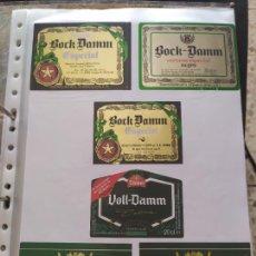 Coleccionismo de cervezas: LOTE COLECCION DE ETIQUETAS DE CERVEZA POCO VISTAS Y EN PERFECTO ESTADO BOCK DAMM. Lote 204997660