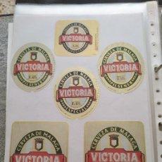 Coleccionismo de cervezas: LOTE COLECCION DE ETIQUETAS DE CERVEZA POCO VISTAS Y EN PERFECTO ESTADO VICTORIA. Lote 204999882