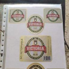 Coleccionismo de cervezas: LOTE COLECCION DE ETIQUETAS DE CERVEZA POCO VISTAS Y EN PERFECTO ESTADO VICTORIA. Lote 204999995
