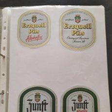 Coleccionismo de cervezas: LOTE COLECCION DE ETIQUETAS DE CERVEZA POCO VISTAS Y EN PERFECTO ESTADO ERZQUELL PILS ETC. Lote 205007046