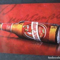 Coleccionismo de cervezas: POSTAL CERVEZA CRUZCAMPO. RENOVARSE Y VIVIR. Lote 205456991