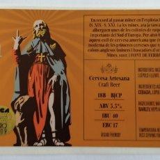 Coleccionismo de cervezas: ETIQUETA CERVEZA RECICLADA. Lote 205859492