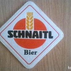 Coleccionismo de cervezas: POSAVASO CERVEZA SCHNAITL. Lote 205864487