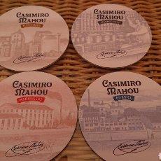 Coleccionismo de cervezas: POSAVASOS MAHOU CASIMIRO, MARAVILLAS, AMANIEL, MARCENADO Y JACOMETREZO.. Lote 206369897