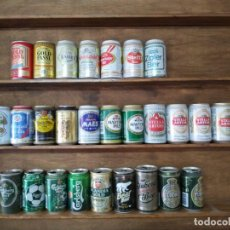 Coleccionismo de cervezas: LATAS CERVEZA DE LOS 80 AL 2000 7 AUSTRIA 12 BÉLGICA Y 9 DINAMARCA. Lote 206434385