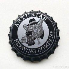 Coleccionismo de cervezas: CHAPA NUEVA CERVEZA ARTESANA ASTURIAS BREWING COMPANY - ESPAÑA 2019. Lote 206594872